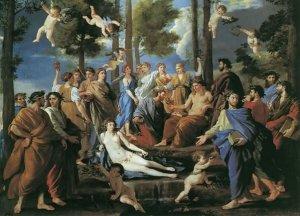 Apolo y las Musas, Nicolás Poussin