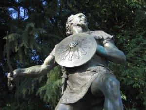 Monumento a Viriato situado en la ciudad de Viseu, Portugal