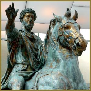 Estatua ecuestre del Emperador Marco Aurelio. Museos Capitolinos, Roma.