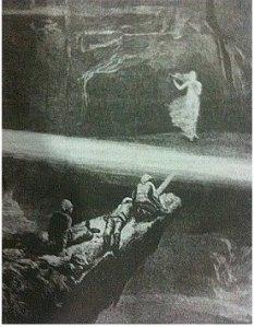Escena del libro aproximándose a la Caverna
