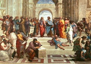 La escuela de Atenas (La scuola di Atene) Rafael Sanzio, 1510-1511 Pintura al fresco • Renacimiento