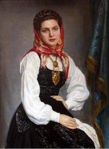 "Retrato de ""novia de Viana"", pintado en 1957"