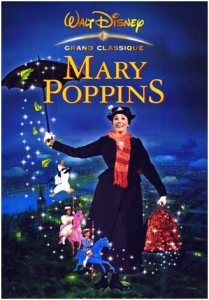 Carátula del filme Mary Poppins de Walt Disney