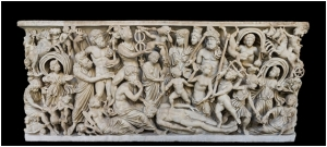 Sarcófago nº 6705 del Museo de Nápoles